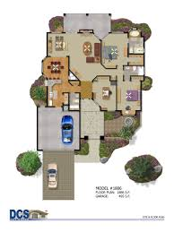 beautiful color floor plans 11 textured house plan