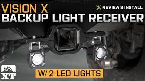 wrangler vision x backup light receiver w 2 led lights 1987 2017 yj tj jk review install