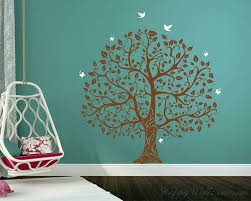 large tree with birds and erflies