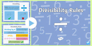 Math Divisibility Rules Chart Divisibility Rules Powerpoint Scottish Cfe Numeracy And