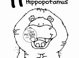 Hippo Coloring Pages Fabulous Picture To Coloring Page Best Kids