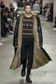 stylish winter coats mens dries van noten fall winter 2017 man in coat with fur