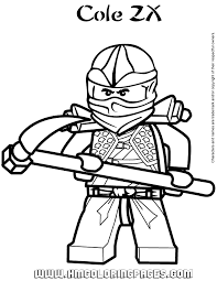 ninjago cole zx coloring page free printable coloring pages