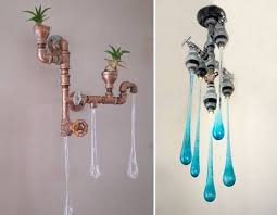 unusual lighting ideas. unique lighting ideas for home decorating nature inspired modern fixtures recycling metal pipes with planters unusual