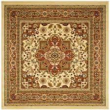 lyndhurst ivory rust 10 ft x 10 ft square area rug