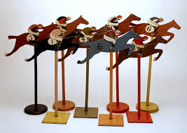 Wooden Horse Race Game Horseback deck game National Maritime Museum 74