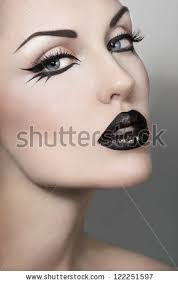 portrait of y woman with gothic makeup