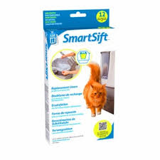 catsndogs my catit design smartsift replacement liners 12 pack for cat pan sifting base