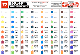 Koh I Noor Mondeluz Colour Chart Koh I Noor Polycolor Coloured Pencils Color Chart By Wnt76