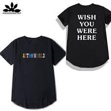 You Shirts Round Hem T Shirt Men Travis Scott Astroworld Wish You Were Here T