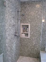 Shower Wall Tile Panel Large Tiles Lit Up Your Bathroom With