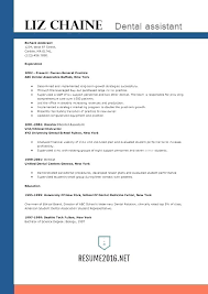 Resume Template Dental Assistant Templates Get The Job N Australian ...