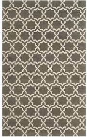 gray geometric area rug grey ivory beige modern moroccan tile pattern