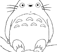 Small Picture Totoro Coloring Pages Faceboulcom