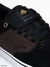 Emerica Size Chart Emerica The Reynolds Low Vulc Shoes Black Brown Grey