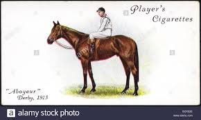 Cigarette card by Player's Cigarettes featuring ABOYEUR winner of ...
