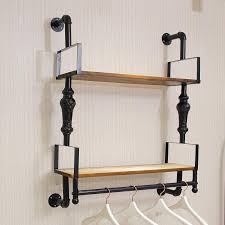 clothing hooks astonishing wall mounted garment rack regarding hanging clothes remodel 13