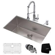 Kraus 32 Stainless Steel Kitchen Sink And Kitchen Faucet Directsinks