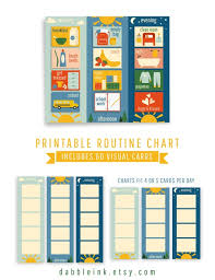 Daily Routine Chart Daily Routine Chart I 60 Cards I Toddler Visual Routine I Morning Afternoon Evening Routines I Printable Routine Cards