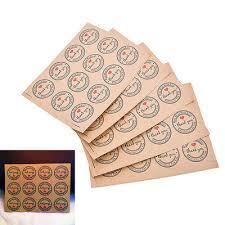 60Pcs <b>Thank You Self</b>-<b>adhesive</b> Stickers Kraft <b>Label</b> Stickers Gifts ...