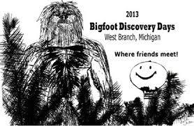 bigfoot discovery days logo winner west branch michigan august 2016