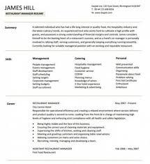 3 restaurant manger resume sample restaurant manager resume template