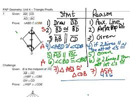 Triangle Proofs Geometry 4 7 Triangle Proofs 2 Sample Proofs Math