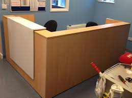 reception desk counter gloss white front
