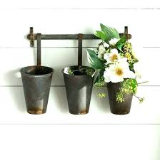 pocket planter tin wall distressed home vertical