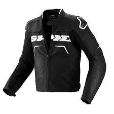 spidi evo rider leather jacket black white