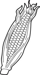 Small Picture FREE Printable Ear of Corn Coloring Page for Kids