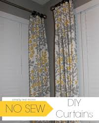 make valance curtains without sewing