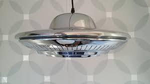 retro ufo pendant gold or chrome