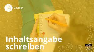 Inhaltsangabe Schreiben Deutsch Duden Learnattack Youtube