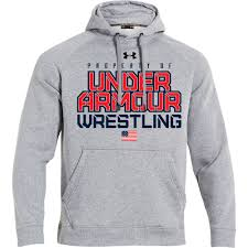 under armour youth hoodie. property of under armour rival wrestling hoodie - apparel blue chip youth