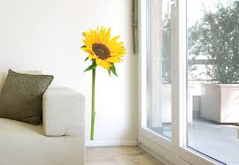 sunflower wall art stickers