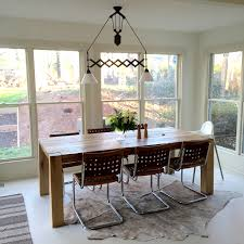 Inspiring Dining Room With Pulley Light Fixture Also Modern Dining - Unique dining room light fixtures