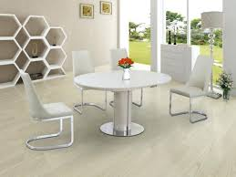white round extending dining table white extending dining table and 4 chairs