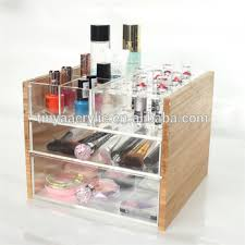 clear large makeup organizer cosmetic storage box with pink s custom hot bamboo acrylic drawer