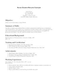 Sample Functional Resume For Nurses Best of Example Of A Nursing Resume Examples Of Nurse Resumes Enrolled Nurse
