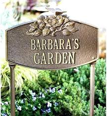 garden signs ideas personalized on stylish small home remodel with metal herb homemade gard
