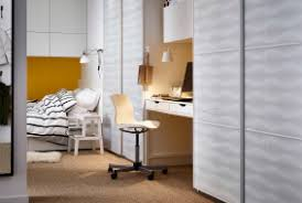 ikea office inspiration. Angled View Down The Corridor Of Bed Area, IKEA Wardrobes And Workspace. Ikea Office Inspiration E