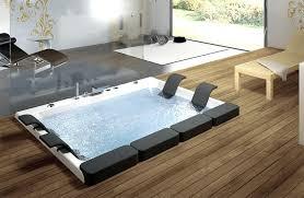 in floor bathtub built in bathtub wooden floor bathrooms with glass material white wall bathtub floor in floor bathtub