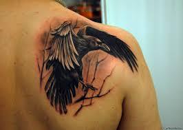 татуировка ворон значение эскизы фото и видео Infotattoo