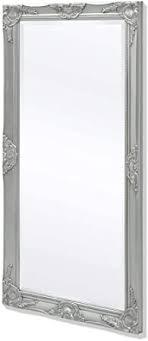 vidaXL <b>Wall Mirror Baroque Style</b> 120x60cm Silver Hanging ...
