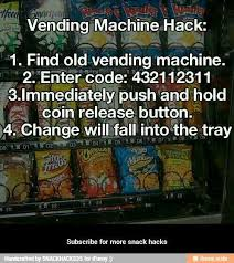 Code Vending Machine Hack Extraordinary Follow For More Snack Hacks Food Drink That I Love Pinterest