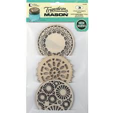 Decorative Mason Jar Lids Loew Cornell Transform Mason™ Wooden Lid Insert Variety for Mason 39