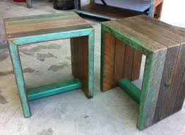 L Recycled Timber Stools Lane Salvage Bespoke And Industrial  Furniture Dining Tables