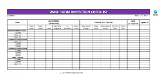 011 Cleaning Schedule Template For Office Ideas Checklist List Excel