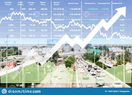 Transportation Index Chart Stock Financial Index Of Successful Investment On